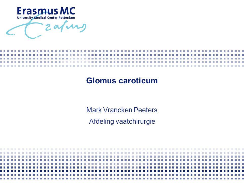 Glomus caroticum Mark Vrancken Peeters Afdeling vaatchirurgie