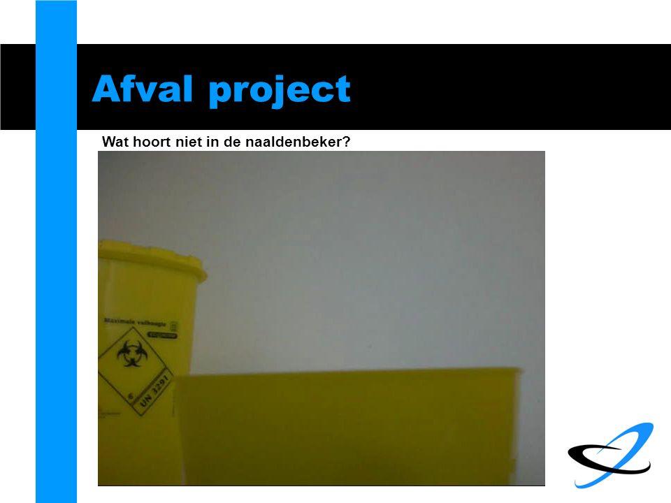 Afval project Wat hoort niet in de naaldenbeker?