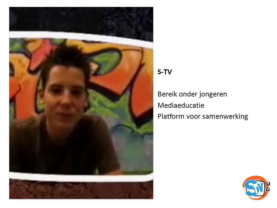 S-TV Bereik onder jongeren Mediaeducatie Platform voor samenwerking