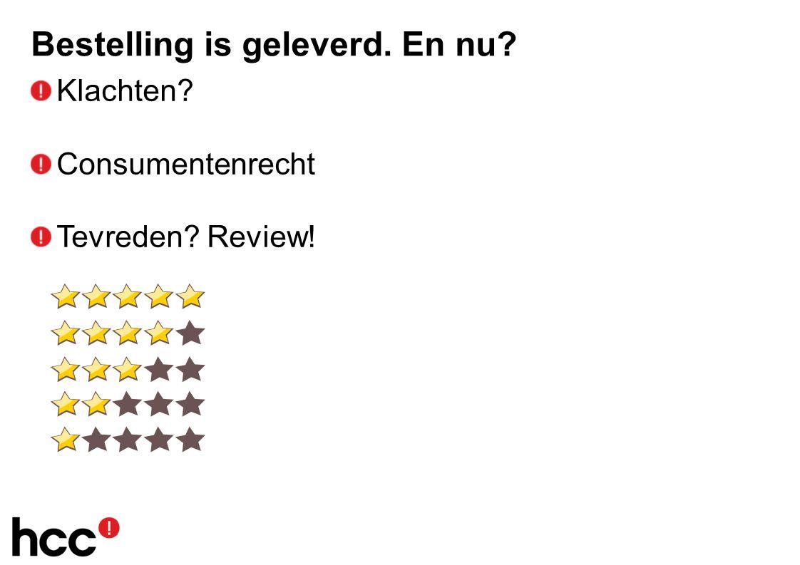 Bestelling is geleverd. En nu Klachten Consumentenrecht Tevreden Review!