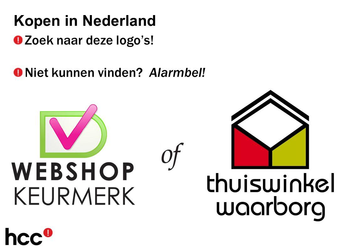 Zoek naar deze logo's! Niet kunnen vinden Alarmbel! Kopen in Nederland