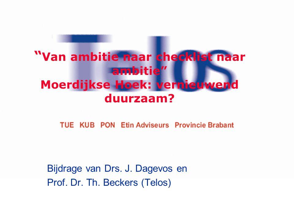 Van ambitie naar checklist naar ambitie Moerdijkse Hoek: vernieuwend duurzaam.