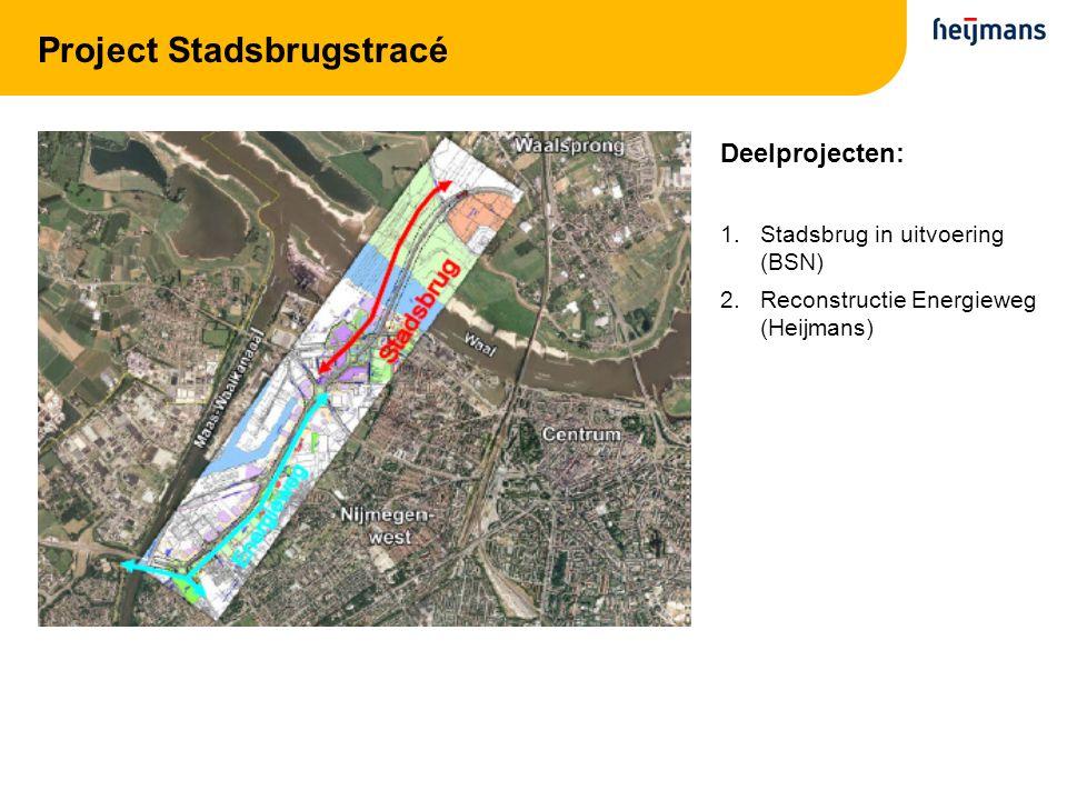 Project Stadsbrugstracé Deelprojecten: 1.Stadsbrug in uitvoering (BSN) 2.Reconstructie Energieweg (Heijmans)