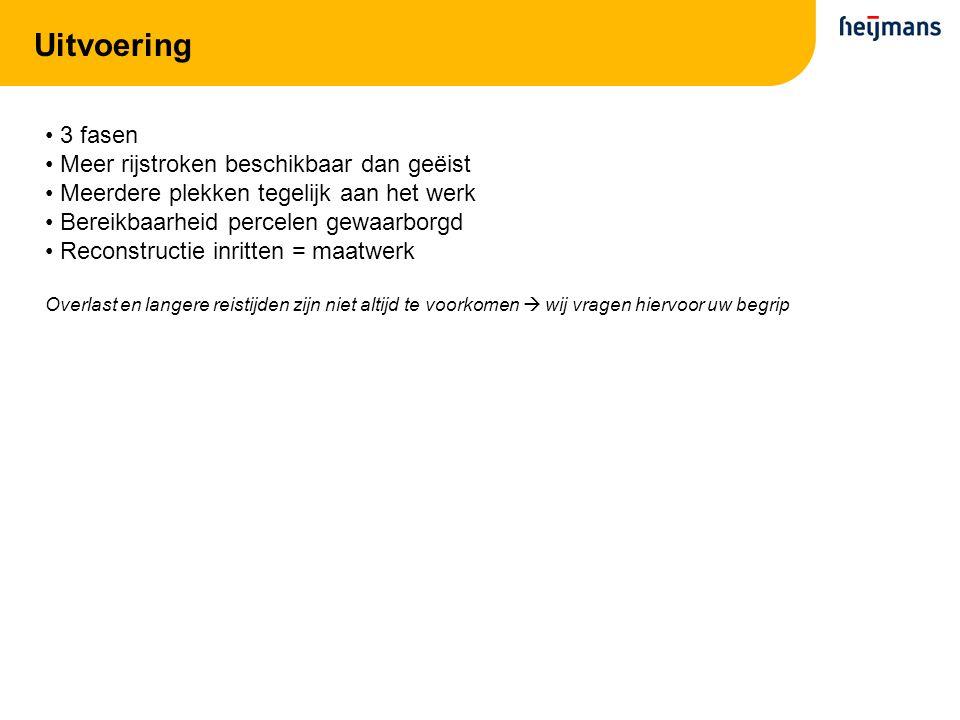 Fase 1: werkgebied Rotonde Ambachtsweg:van eind maart – half mei Zuidzijde Neerboscheplein: van april – 13 juli (loopt door in fase 2)