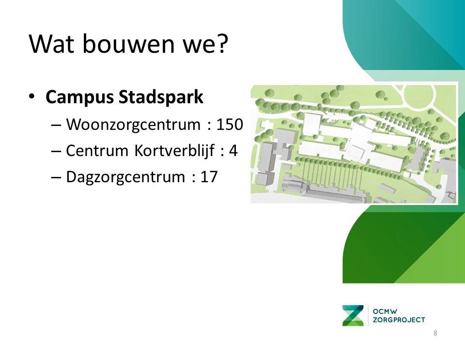 Wat bouwen we? Campus Stadspark – Lokaal Dienstencentrum (samengaan De Boelvaar en 't Park) 9