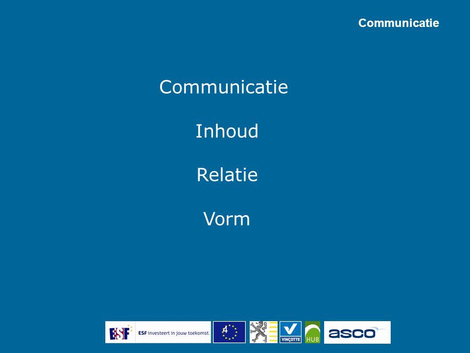 4 Communicatie Inhoud Relatie Vorm