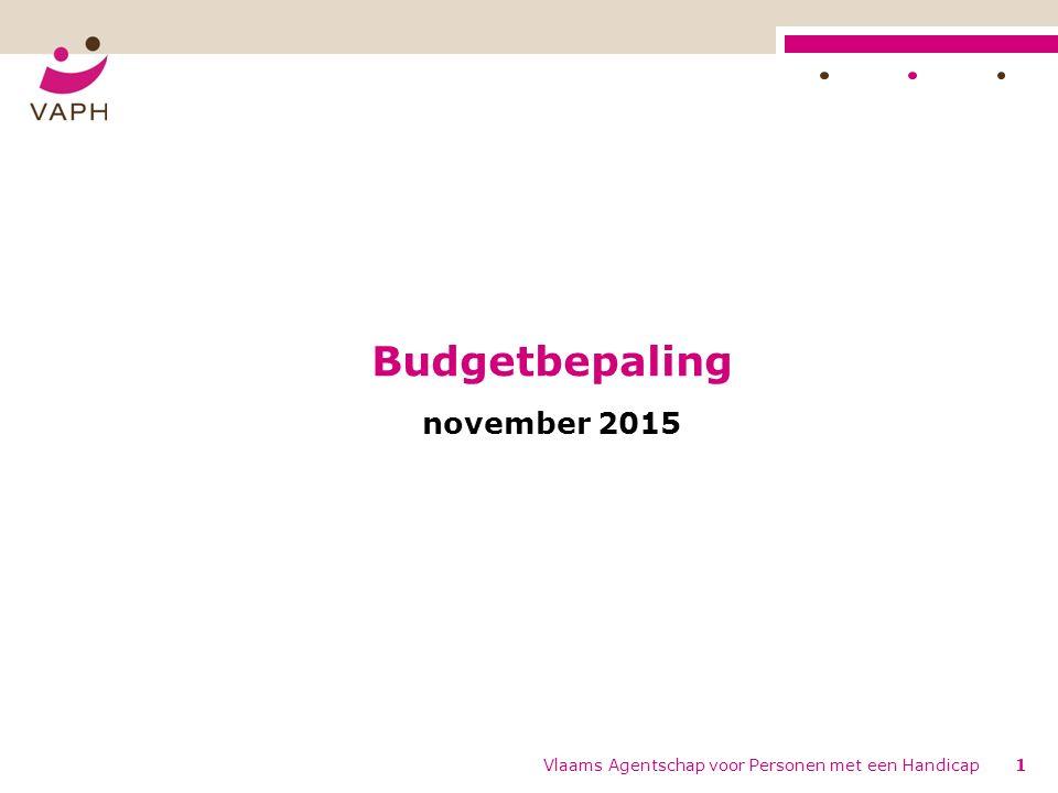 Budgetbepaling november 2015 Vlaams Agentschap voor Personen met een Handicap1