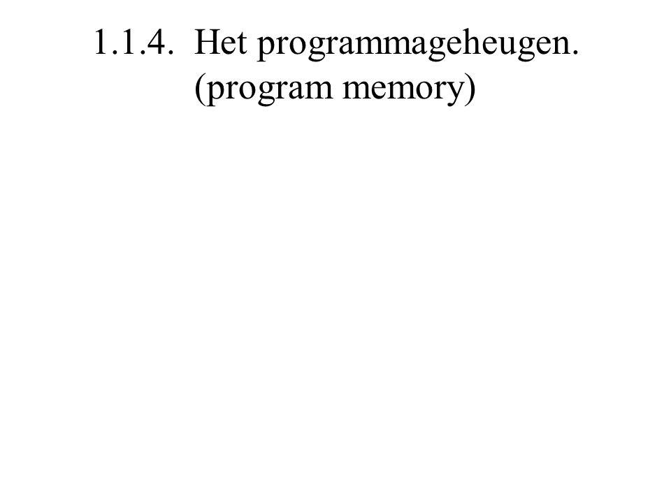 1.1.4. Het programmageheugen. (program memory)