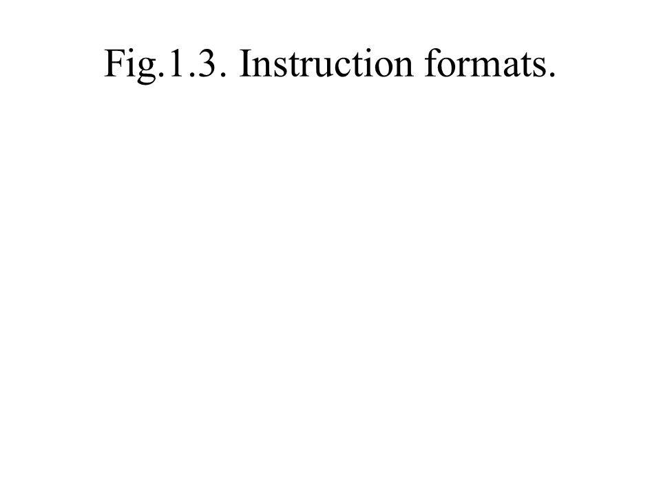 Fig.1.3. Instruction formats.