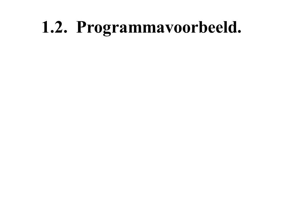 1.2. Programmavoorbeeld.