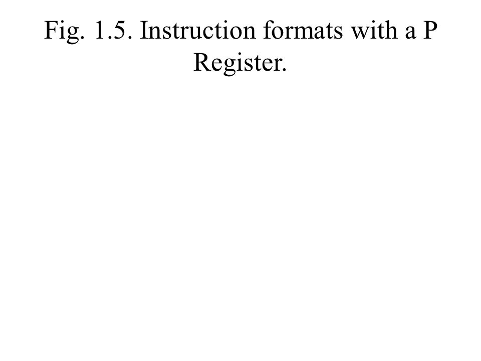 Fig. 1.5. Instruction formats with a P Register.