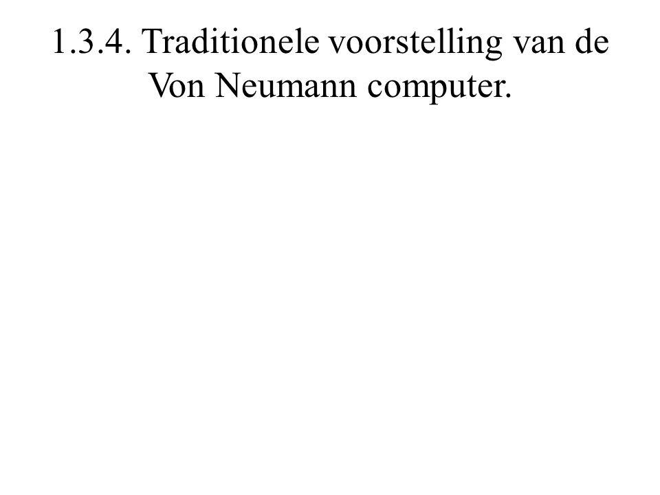 1.3.4. Traditionele voorstelling van de Von Neumann computer.