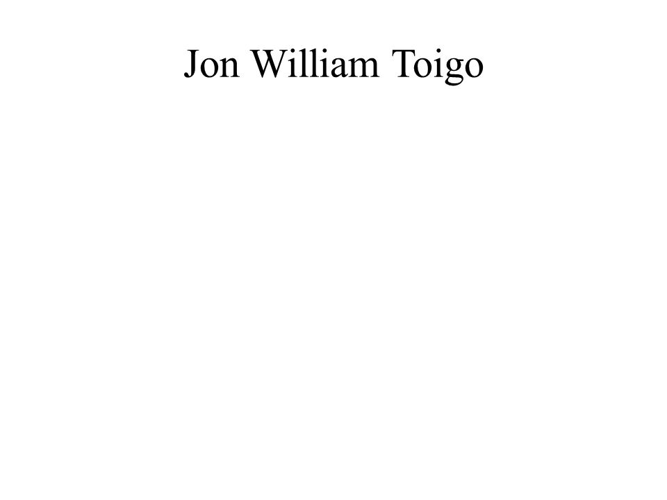 Jon William Toigo