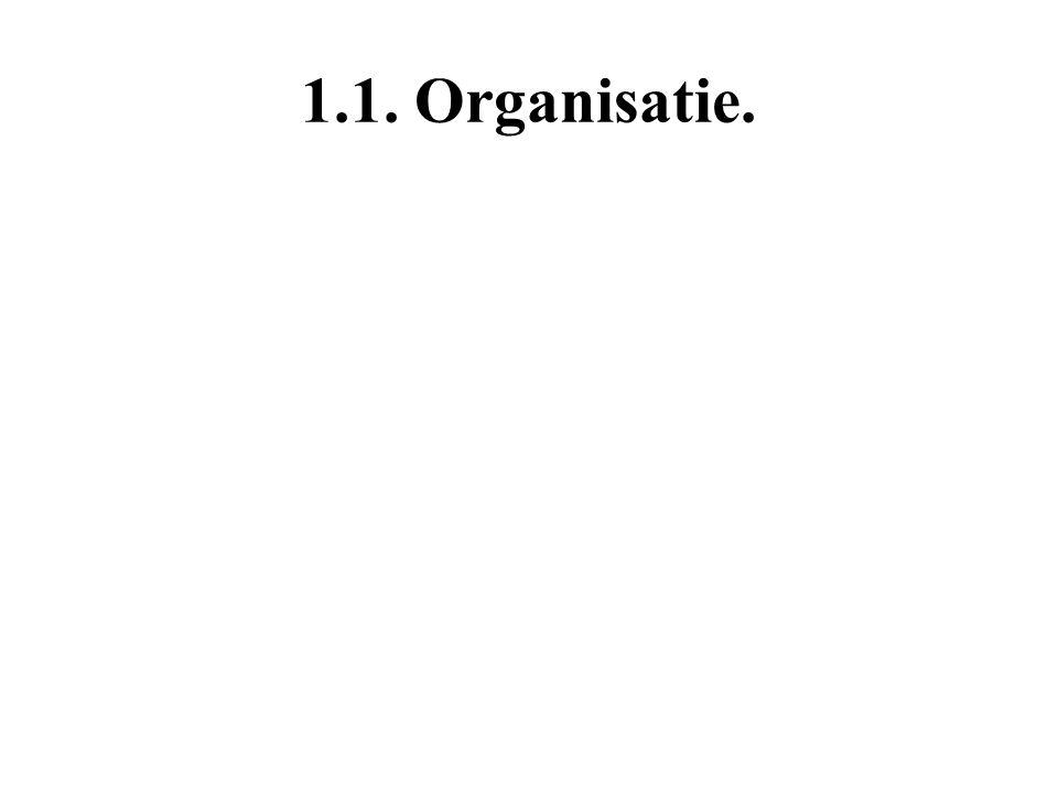 1.1. Organisatie.