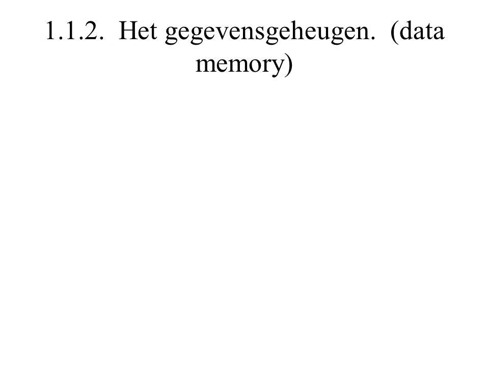 1.1.2. Het gegevensgeheugen. (data memory)