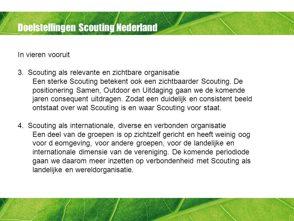Doelstellingen Scouting Nederland In vieren vooruit 3.
