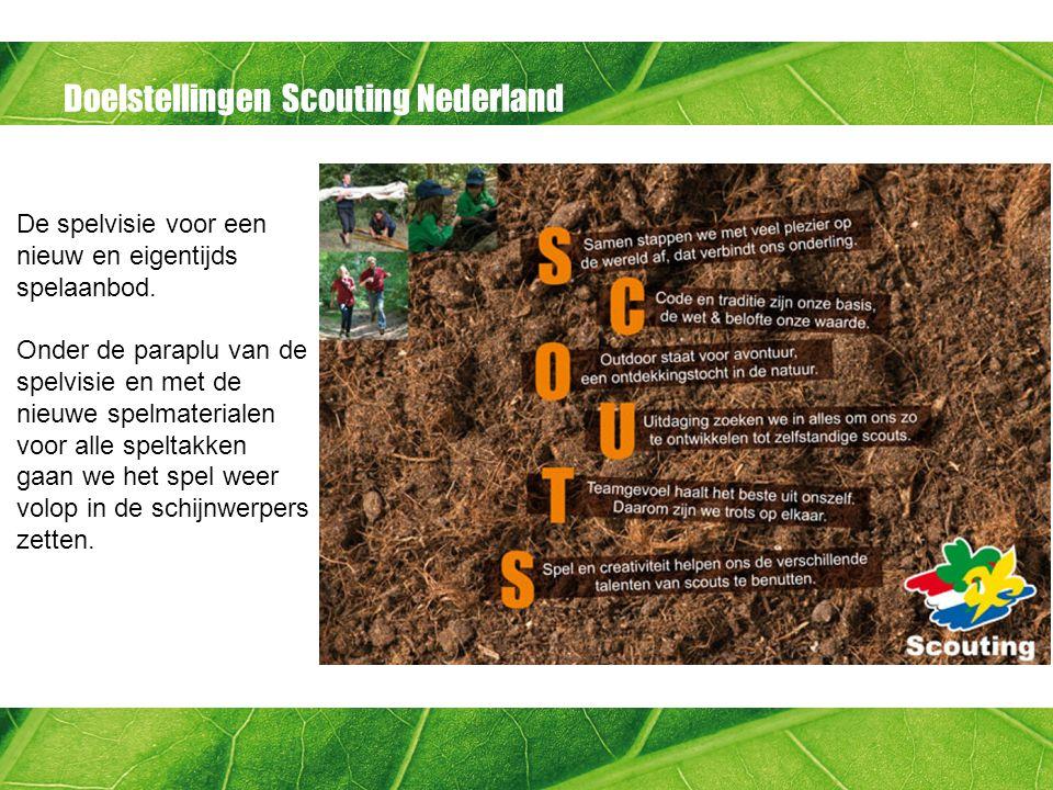 Doelstellingen Scouting Nederland De spelvisie voor een nieuw en eigentijds spelaanbod.