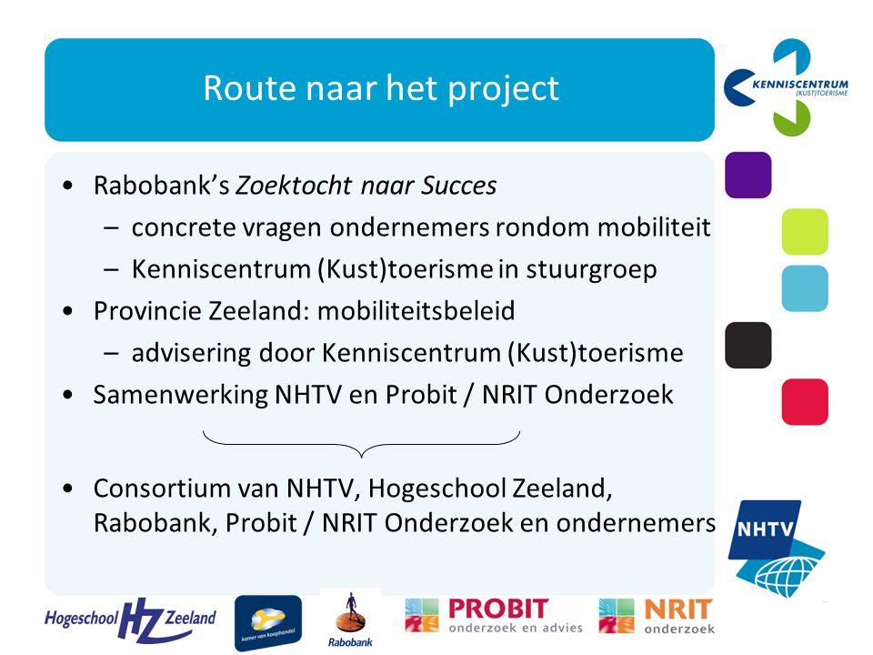Kaders voor het project Te organiseren door (een aantal samenwerkende) bedrijven (recreatie- en andere ondernemers samen) Geen grote investeringen of uitbreiding infrastructuur Uitvoerbaar in 2011 en 2012