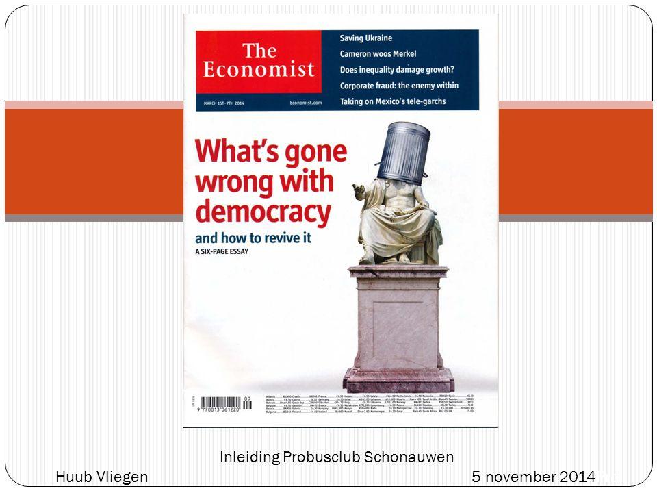 What's gone wrong with democracy and how to revive it? Het is dat Nederland zijn bestaan dankt aan noodzakelijk overleg inzake eeuwenoud 'watermanagement' anders zou ook hier de overlegcultuur die nodig is voor een goedwerkende democratie moeite kosten.