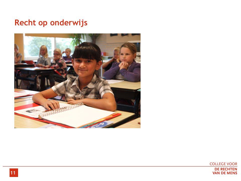 11 Recht op onderwijs