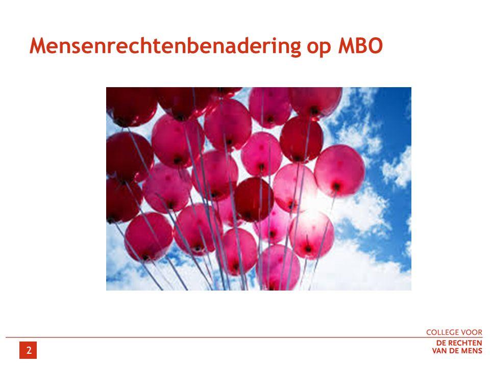 Mensenrechtenbenadering op MBO 2