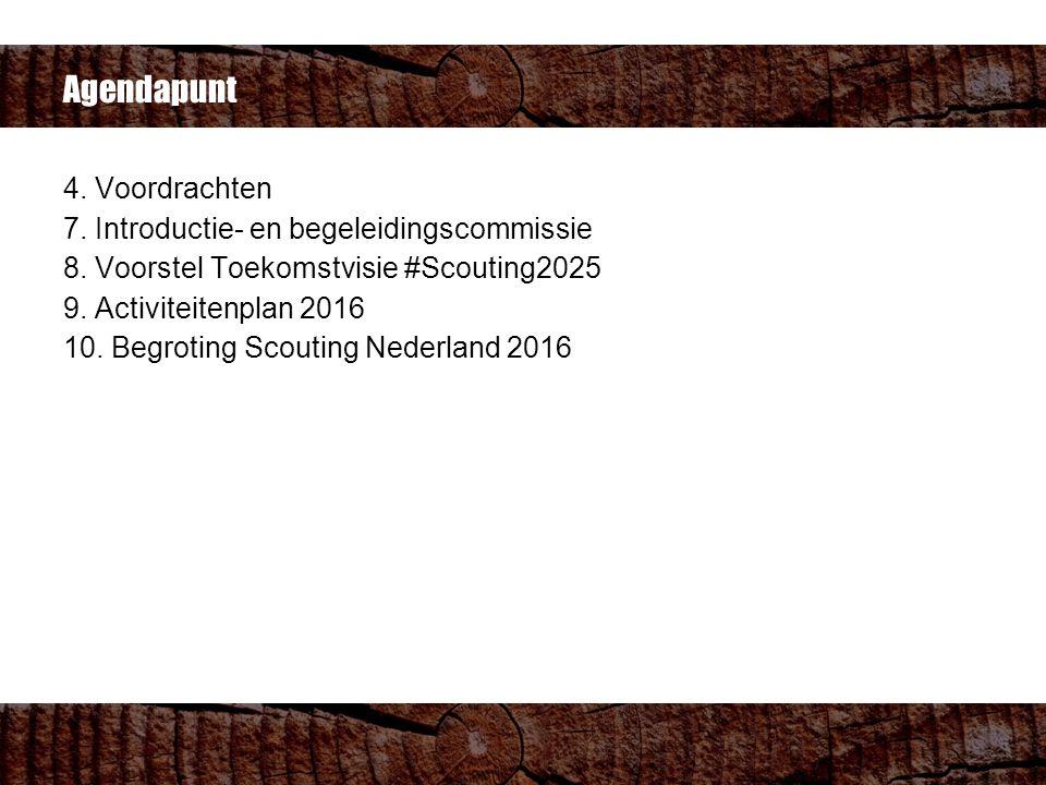 Agendapunt 4. Voordrachten 7. Introductie- en begeleidingscommissie 8.