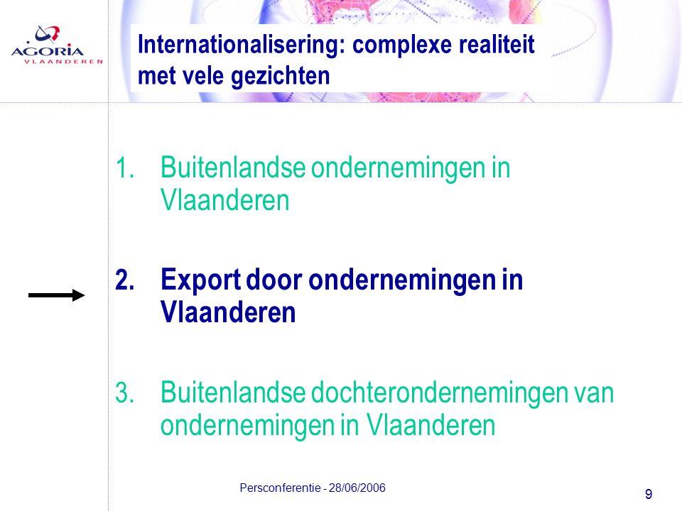 9 Persconferentie - 28/06/2006 Internationalisering: complexe realiteit met vele gezichten 1.