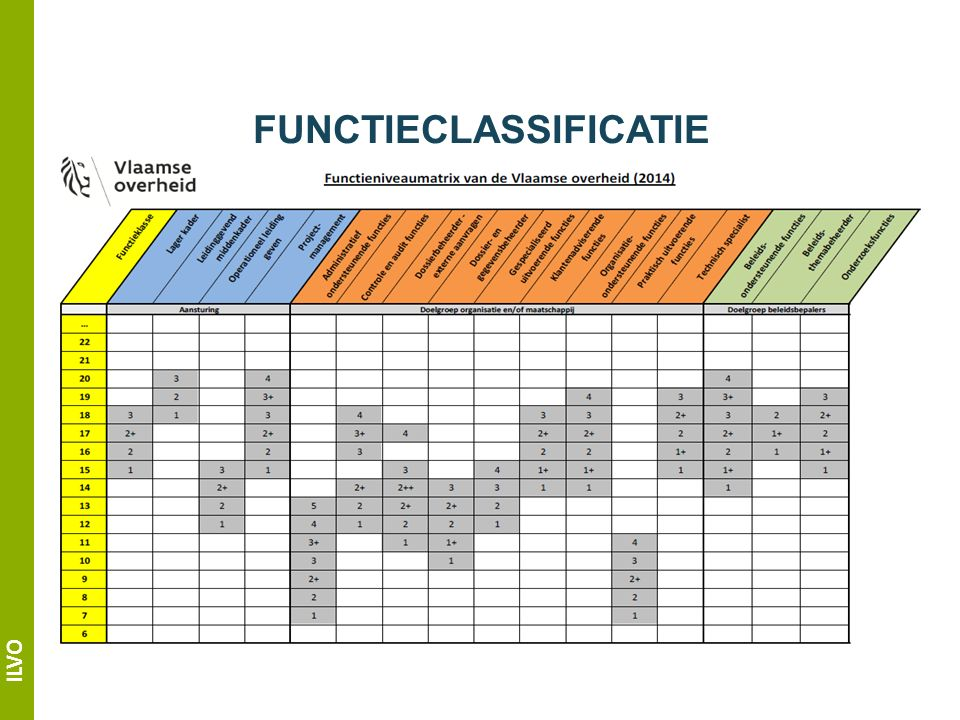 ILVO FUNCTIECLASSIFICATIE