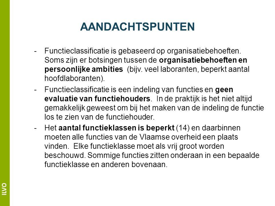 ILVO - Functieclassificatie is gebaseerd op organisatiebehoeften.
