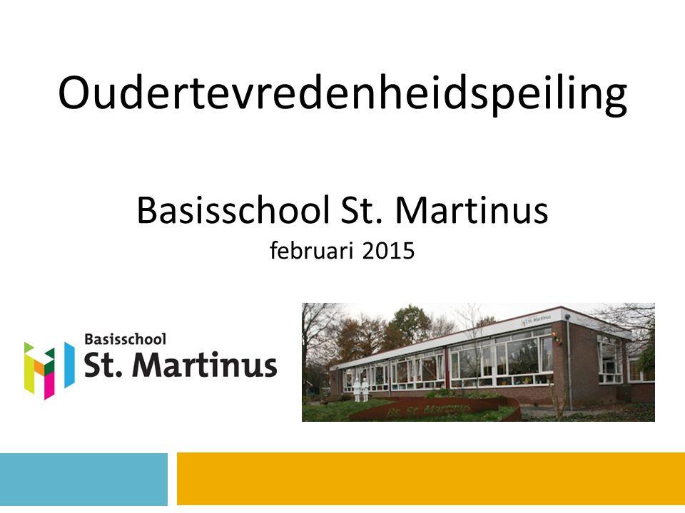 Oudertevredenheidspeiling Basisschool St. Martinus februari 2015