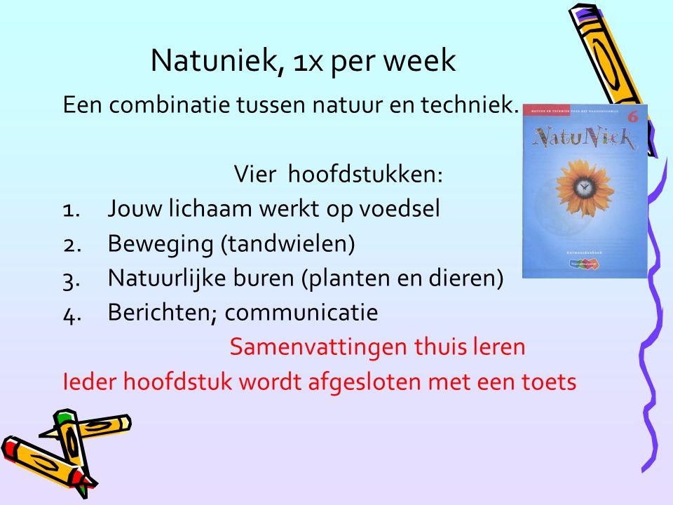 Natuniek, 1x per week Een combinatie tussen natuur en techniek.