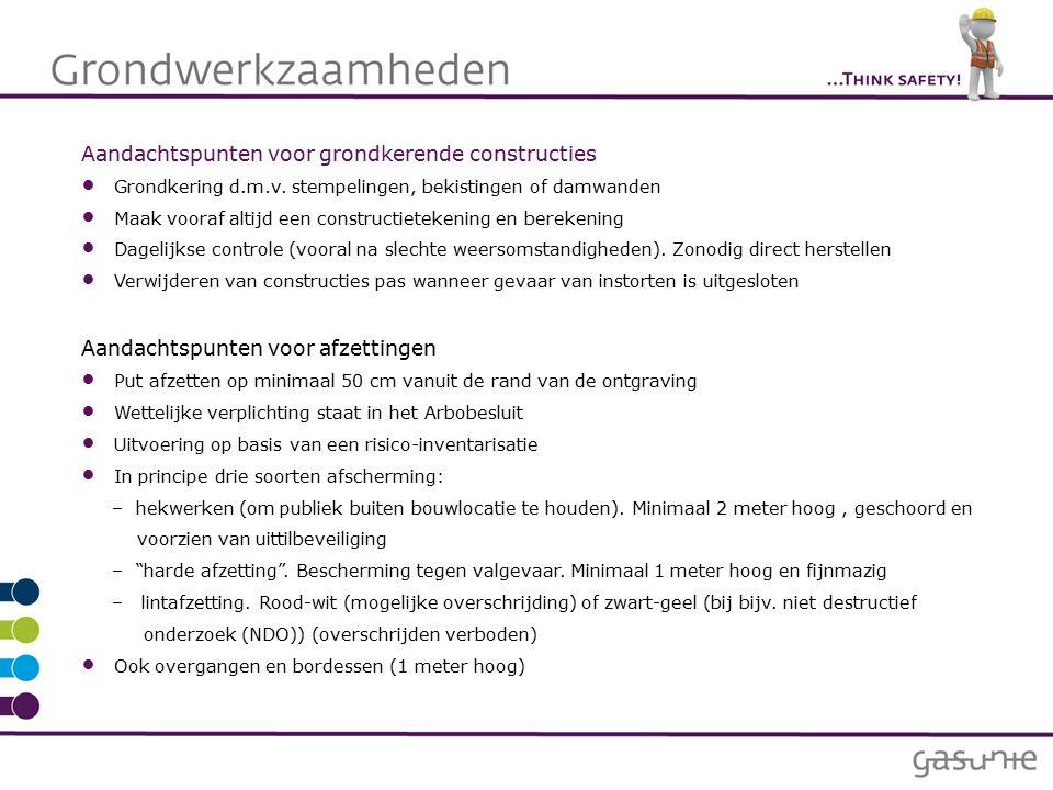 Aandachtspunten voor grondkerende constructies Grondkering d.m.v.