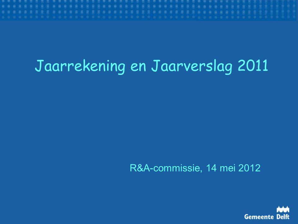 Jaarrekening en Jaarverslag 2011 R&A-commissie, 14 mei 2012