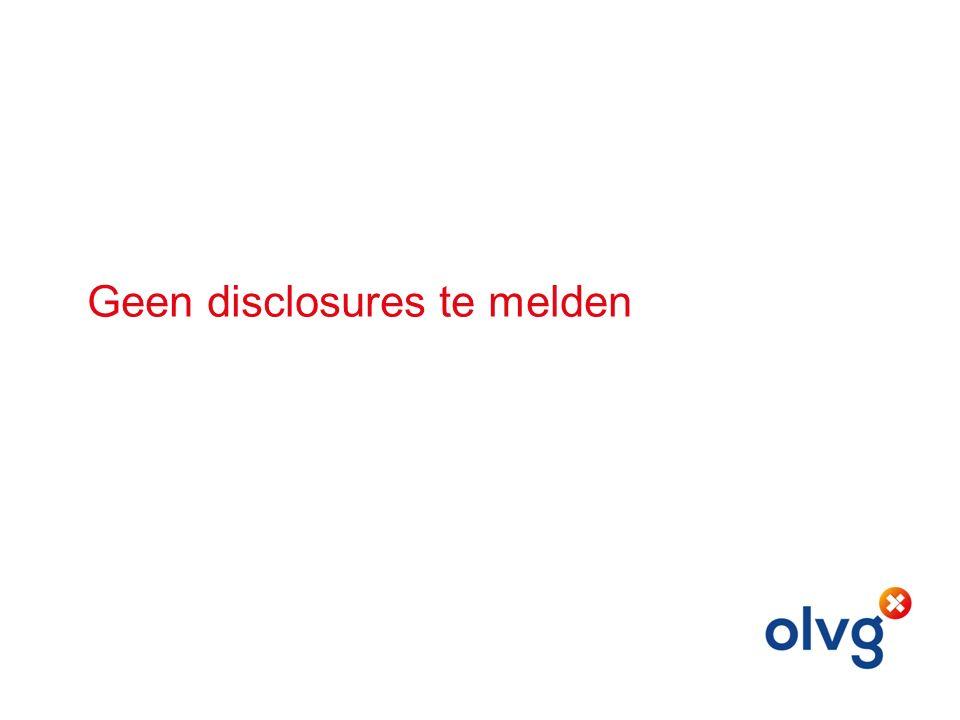Geen disclosures te melden
