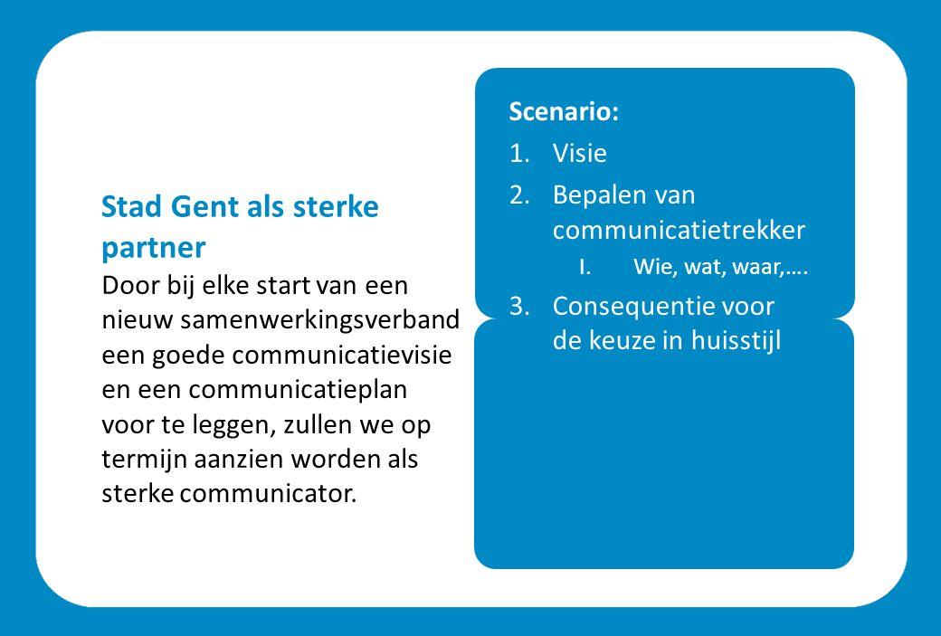 Door bij elke start van een nieuw samenwerkingsverband een goede communicatievisie en een communicatieplan voor te leggen, zullen we op termijn aanzien worden als sterke communicator.