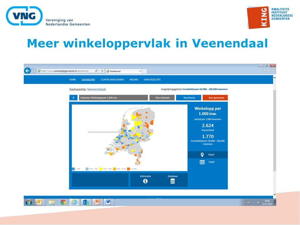 Meer winkeloppervlak in Veenendaal