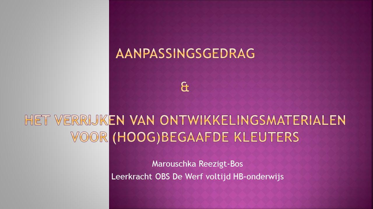 Marouschka Reezigt-Bos Leerkracht OBS De Werf voltijd HB-onderwijs