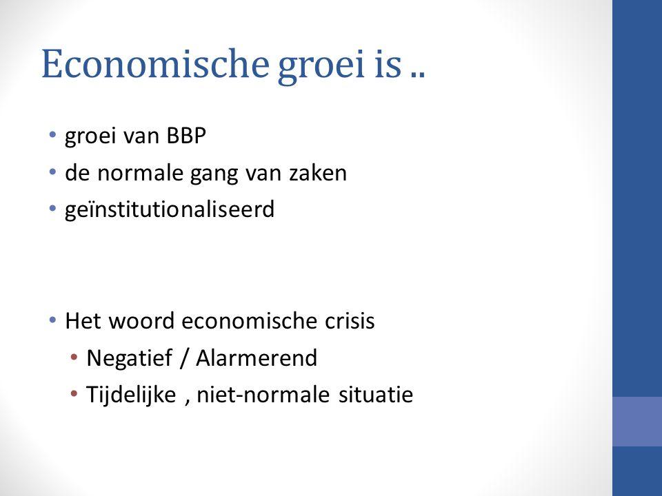 Economische groei is..