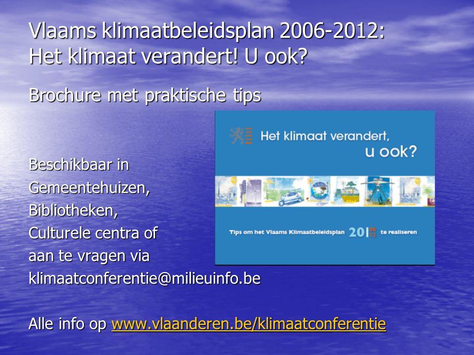 Vlaams klimaatbeleidsplan 2006-2012: Het klimaat verandert.