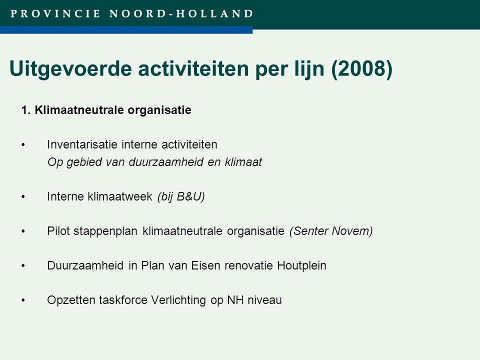 Titel presentatie (wijzigen in diamodel) Uitgevoerde activiteiten per lijn (2008) 1.