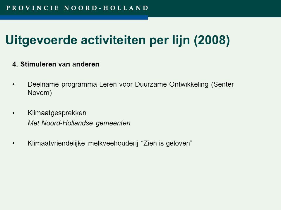 Titel presentatie (wijzigen in diamodel) Uitgevoerde activiteiten per lijn (2008) 4.