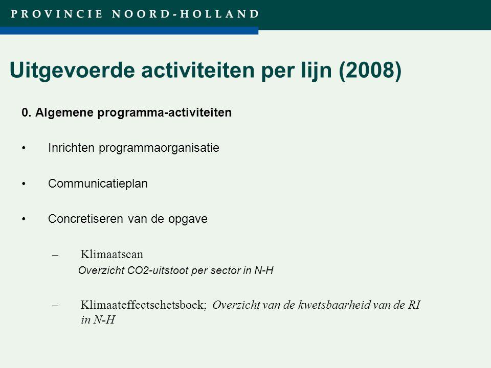 Titel presentatie (wijzigen in diamodel) Uitgevoerde activiteiten per lijn (2008) 0.