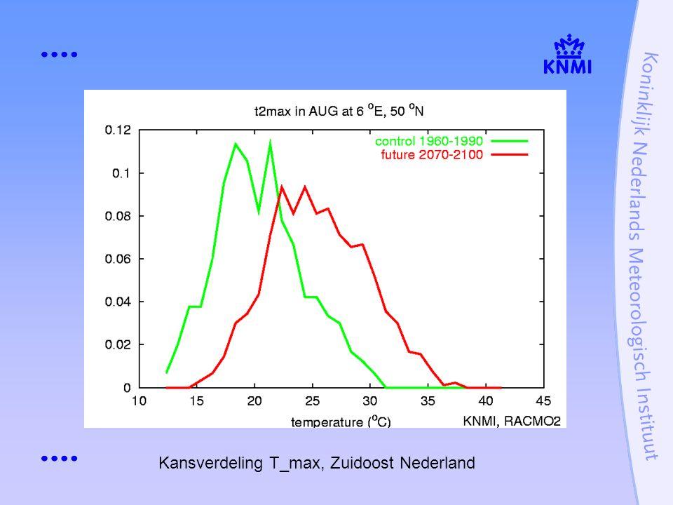 Kansverdeling T_max, Zuidoost Nederland