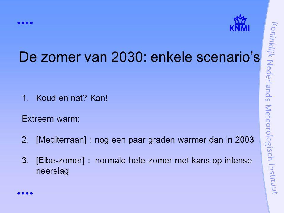 De zomer van 2030: enkele scenario's 1.Koud en nat.