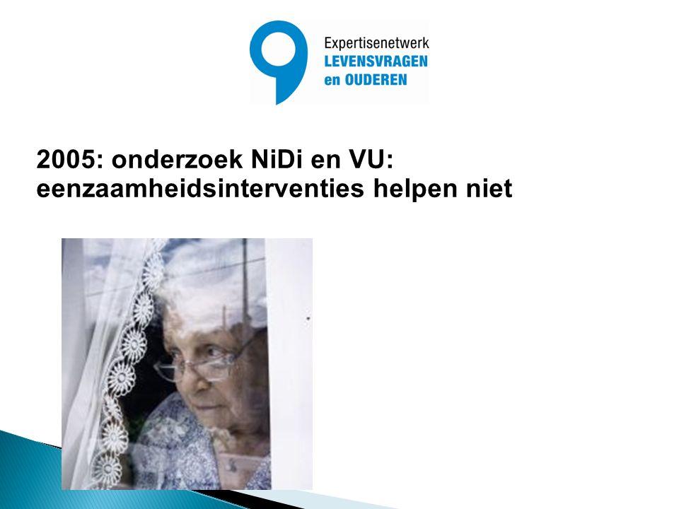 2005: onderzoek NiDi en VU: eenzaamheidsinterventies helpen niet