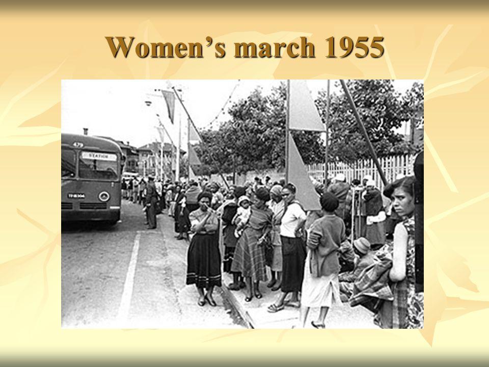 Women's march 1955
