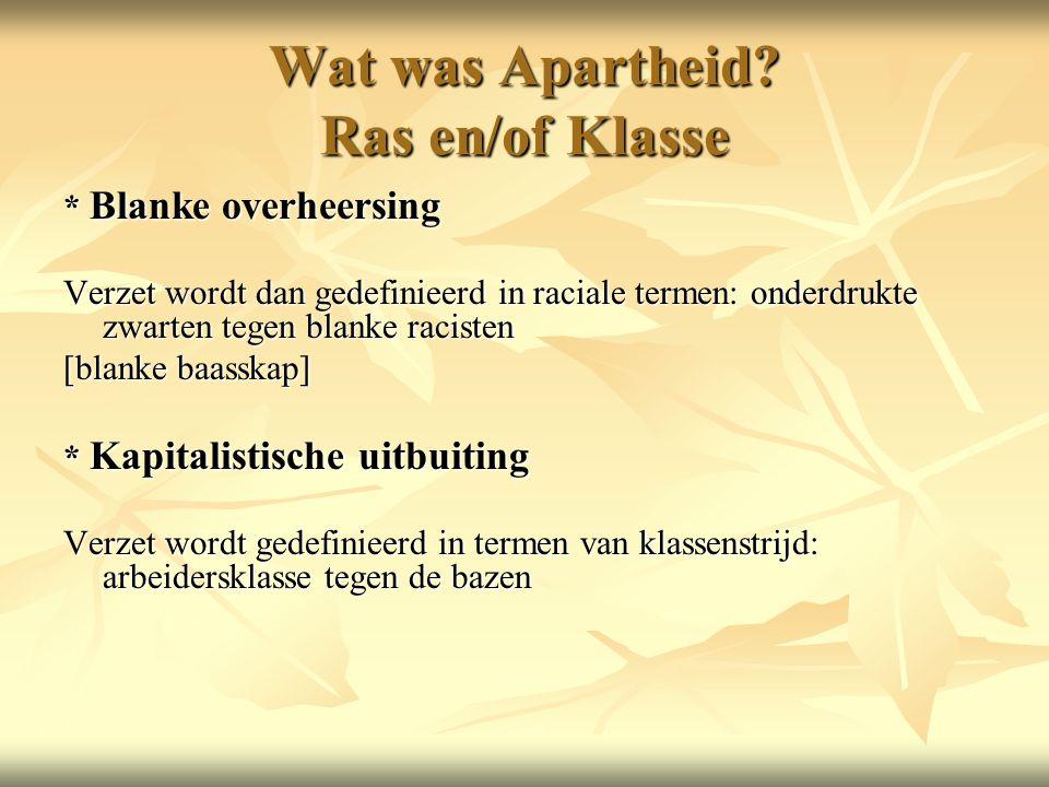 Wat was Apartheid.