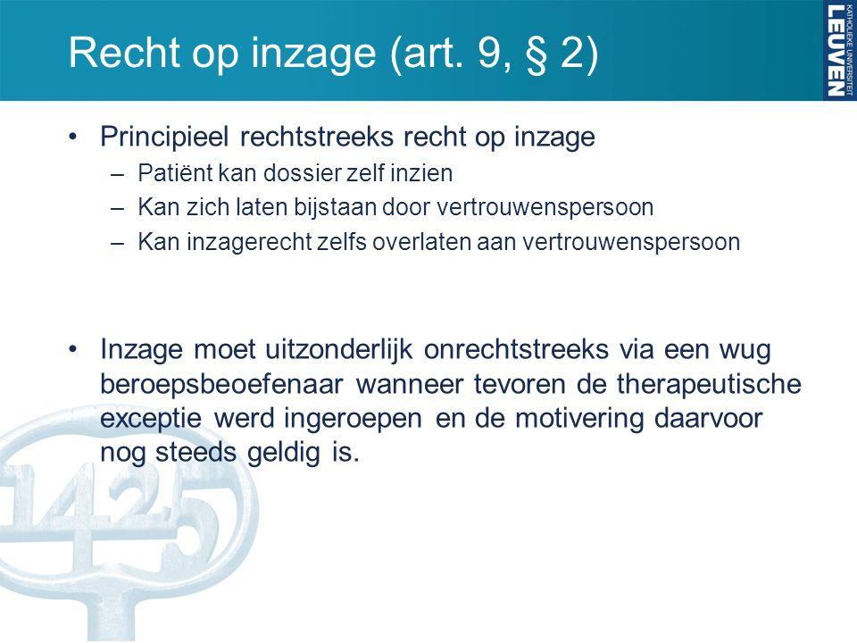 Recht op inzage (art.