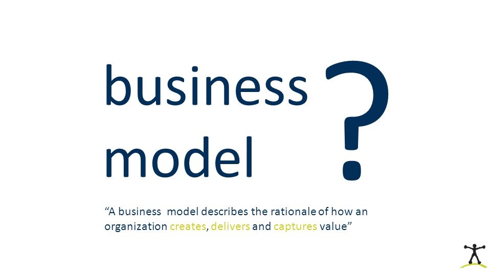"business model ? ""A business model describes the rationale of how an organization creates, delivers and captures value"""
