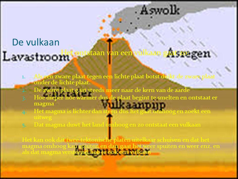 De vulkaan Het ontstaan van een vulkaan gaat zo: 1.